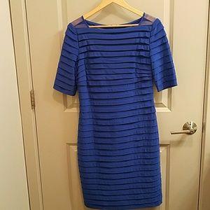 Adrianna Papell Blue Sheath Dress